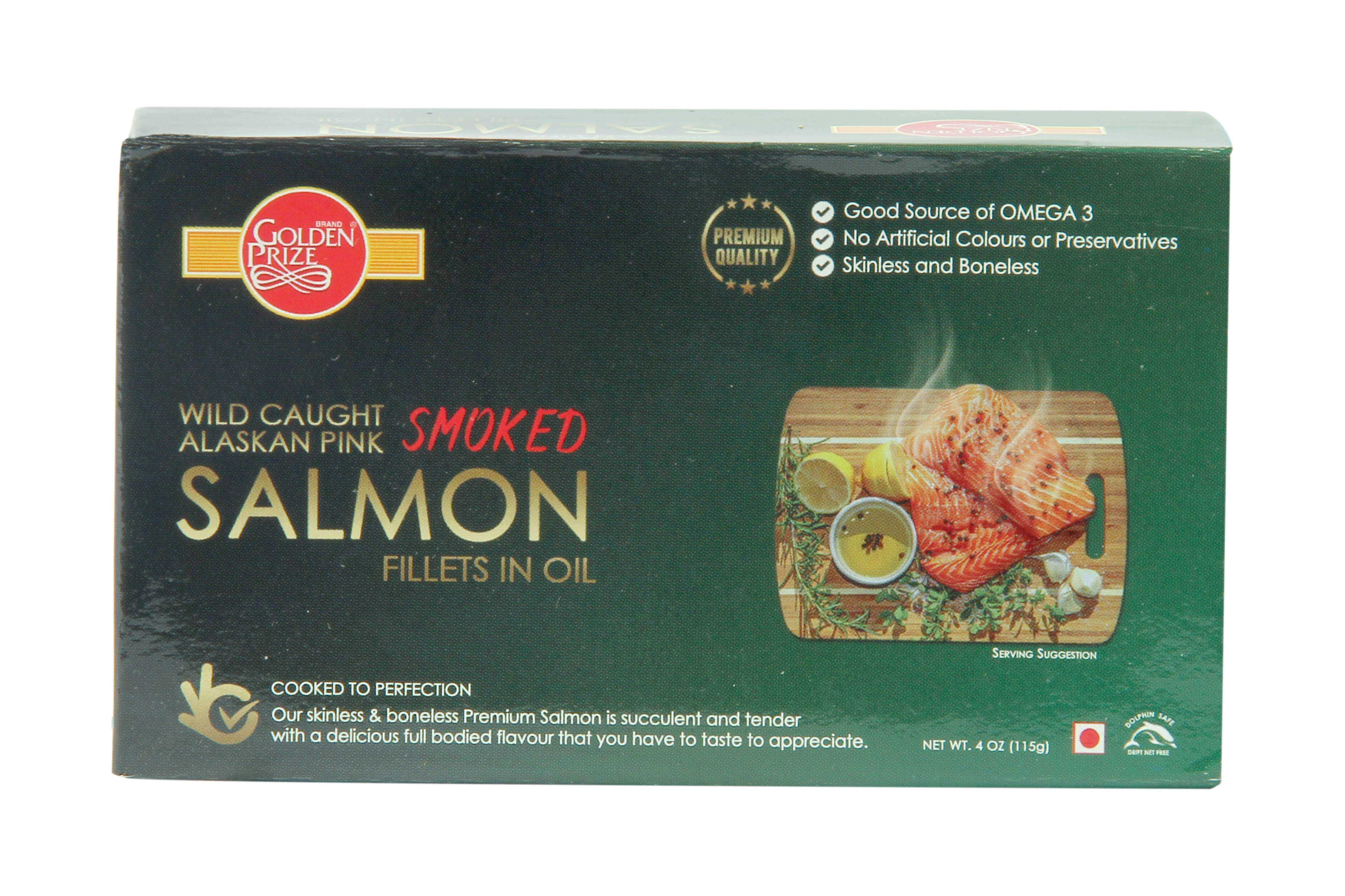 Smoked Salmon Fillets in Oil